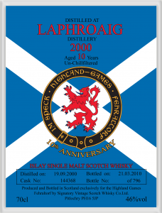 Highland Games Anniversary Label