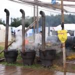 Haggis cooking